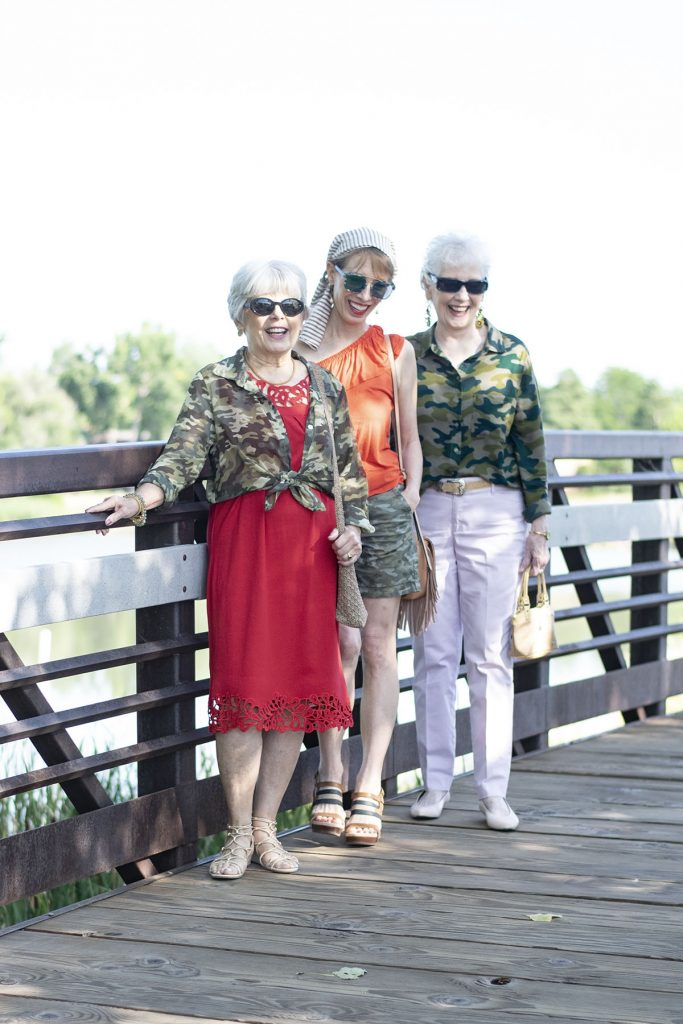 Camo and color on women over 40