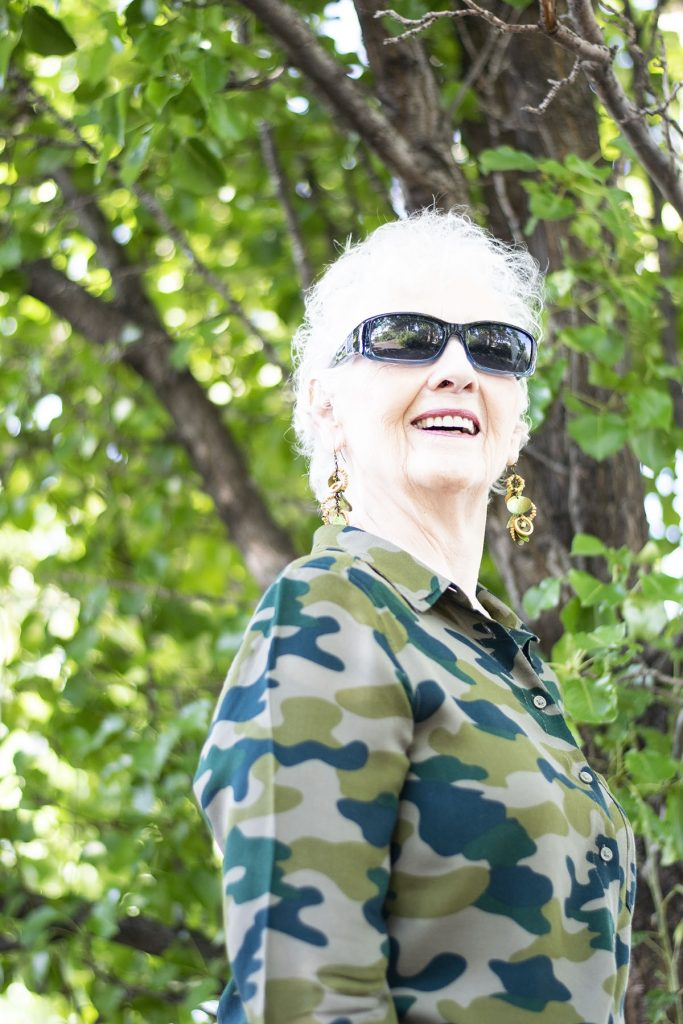 How to wear Camo and color for women over 80