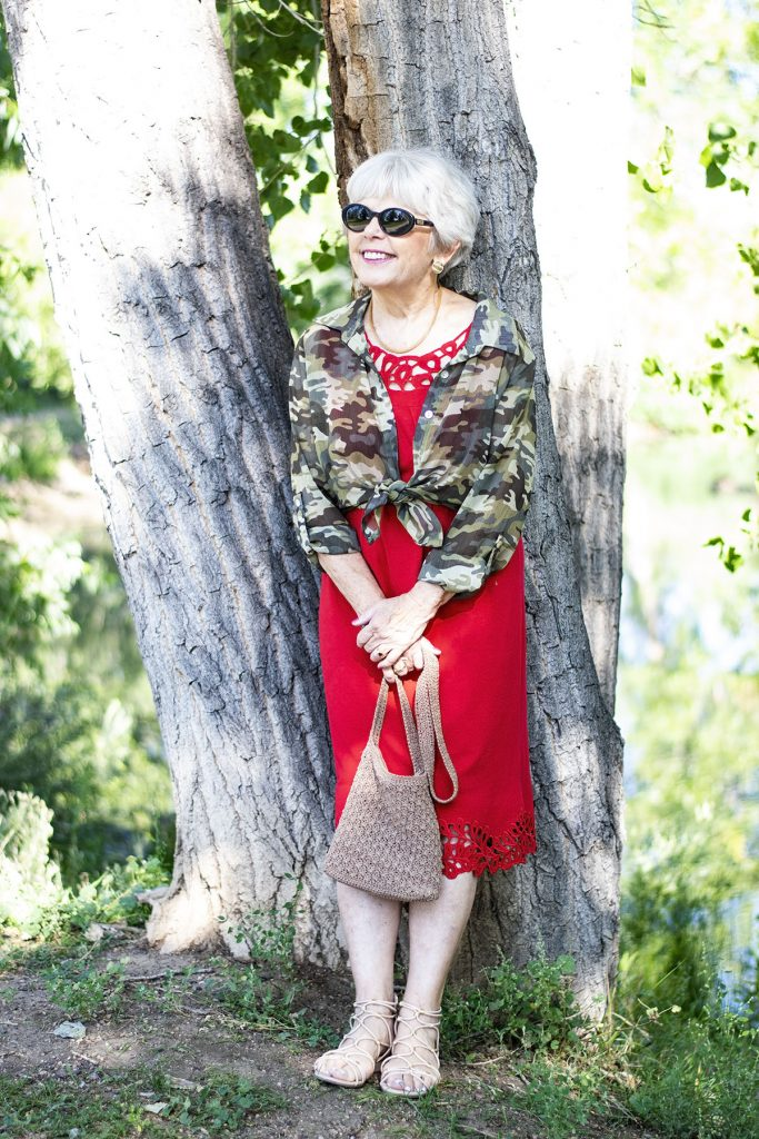 How to wear Camo and color for women over 70