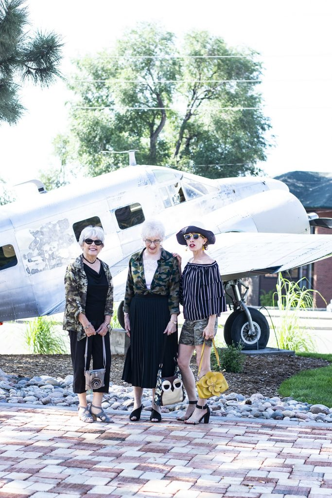 Styling camo outfits for style and fashion for women over fifty