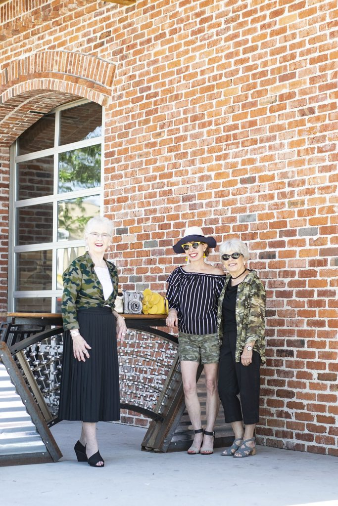 How to style camo outfits worn by older women