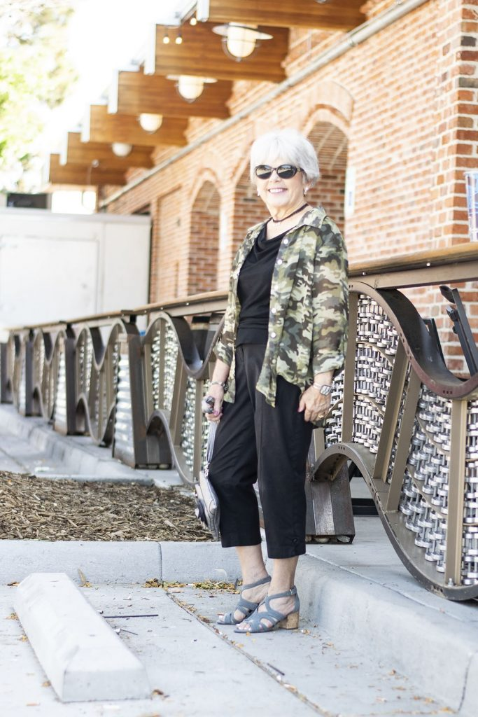 How to style camo outfits for women in midlife