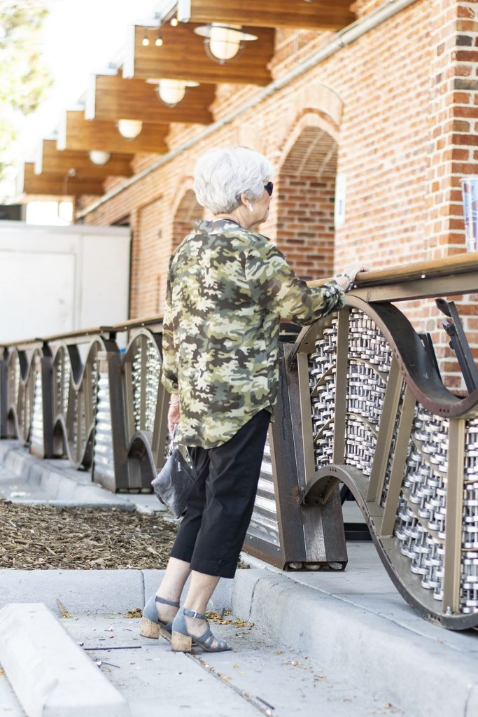How to style camo outfits for women over 70