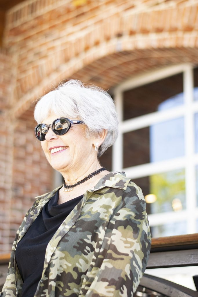 How to style camo outfits for women over 60
