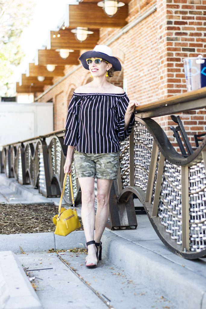 How to style camo outfits worn with another print