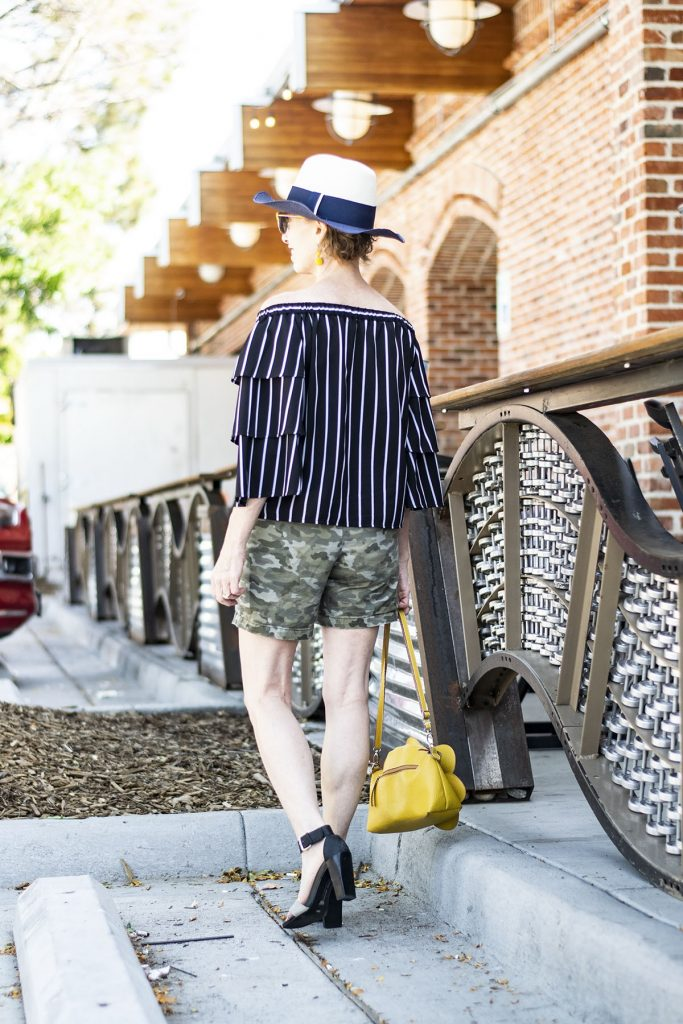 How to style camo outfits worn with print mixing