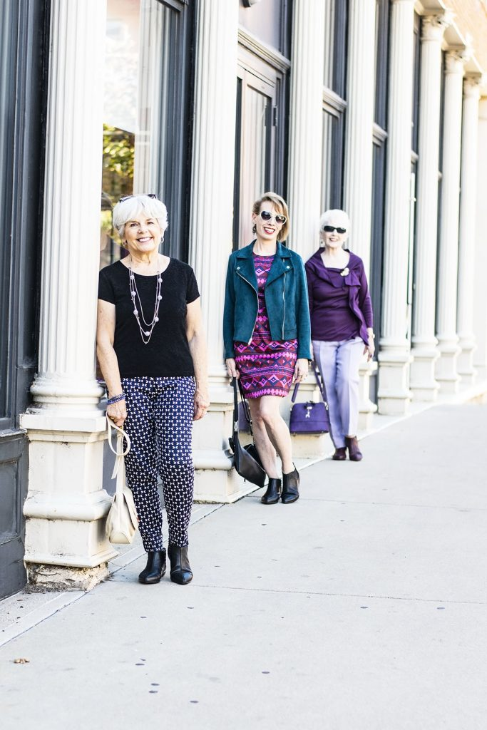 How to style fall outfits with comfortable booties for women from Jambu for women over 40