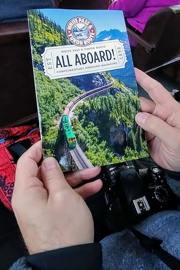Alaska shore excursions in Skagway on the White Pass Train in fall