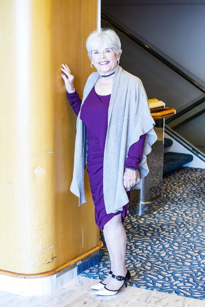 Cruise travel outfits for women with a dress
