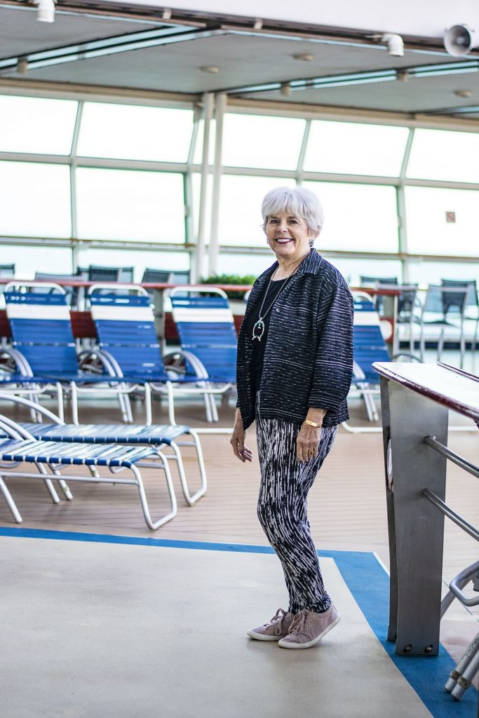 Cruise travel outfits for women over sixty