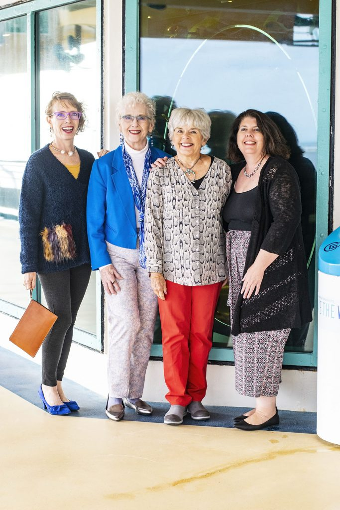 Womens travel outfits for women over fifty on an Alaskan cruise