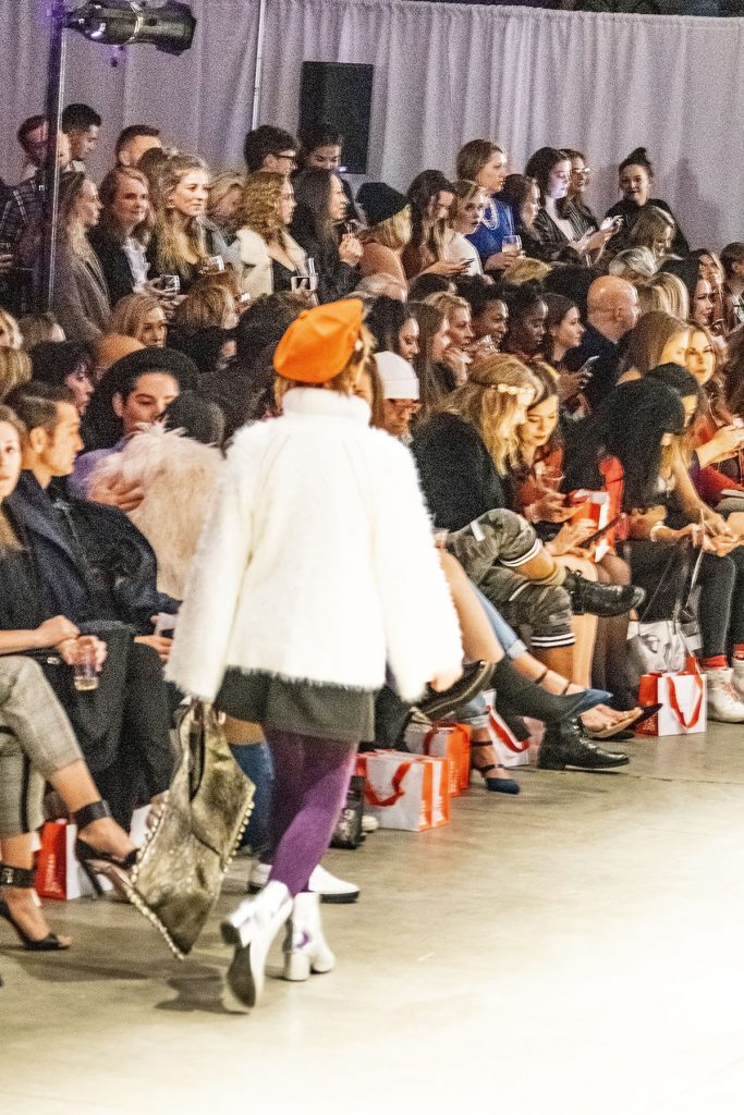 Woman over 40 at Denver Fashion week