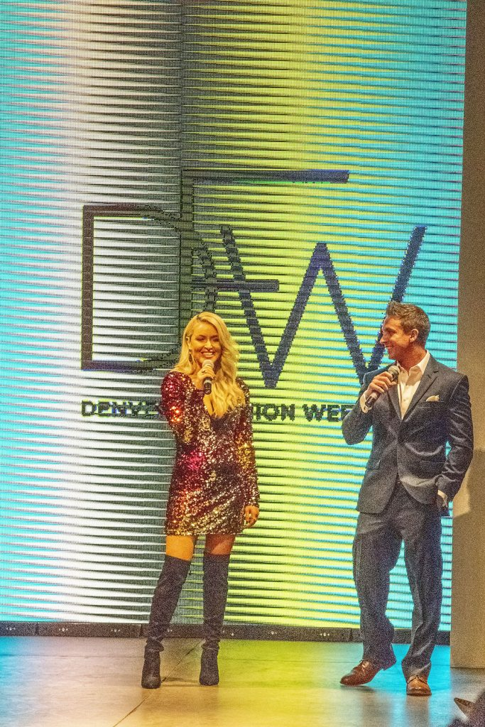 Announcers for Runway fashion at Denver Fashion week