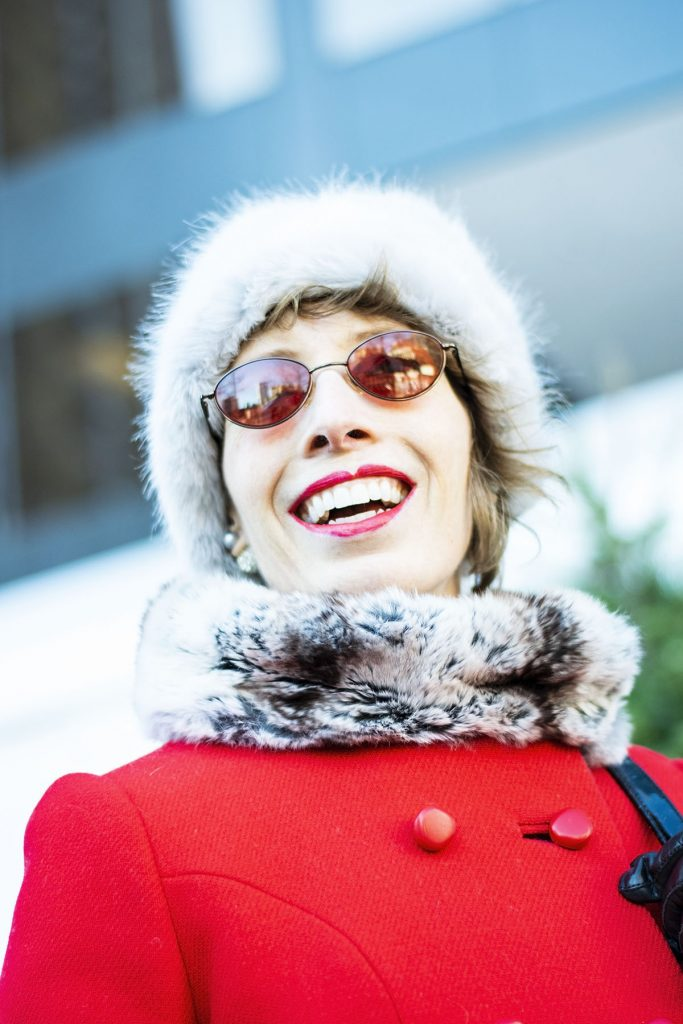 How to wear holiday coats and jackets for women over 50