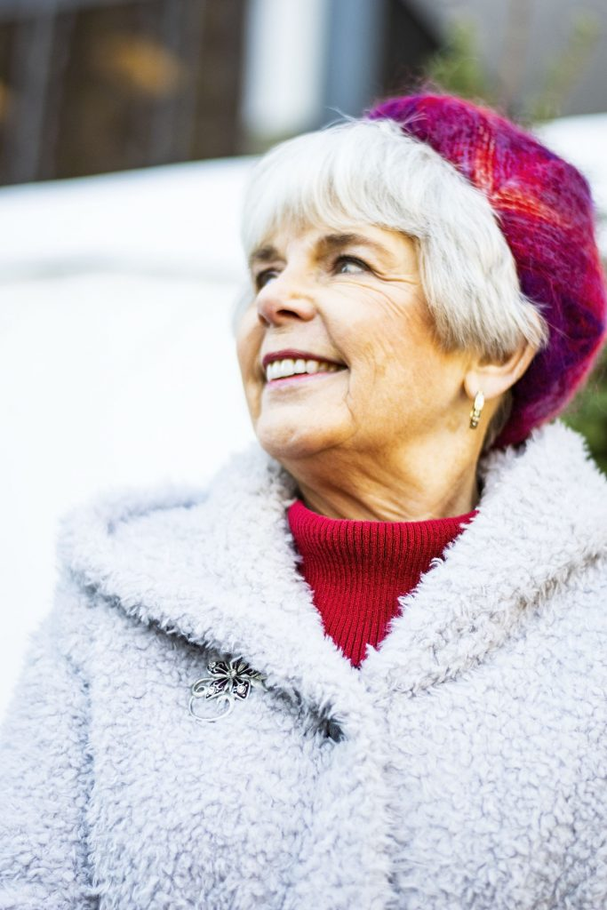 How to wear holiday coats and jackets for women over 70