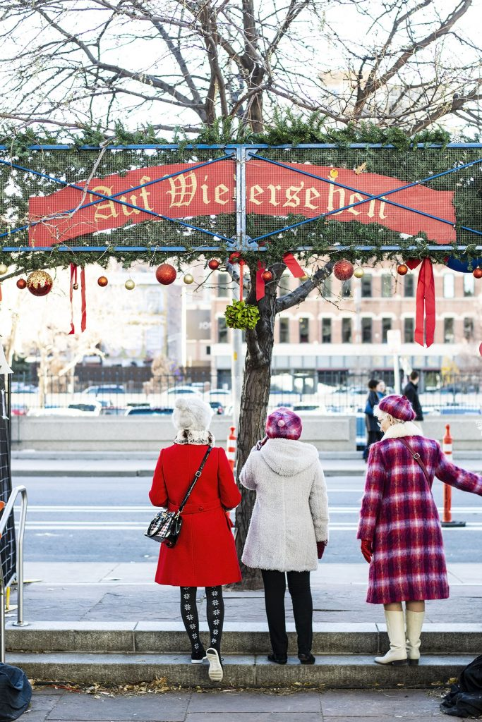 Styling cold weather coats and jackets for the Christkindl market