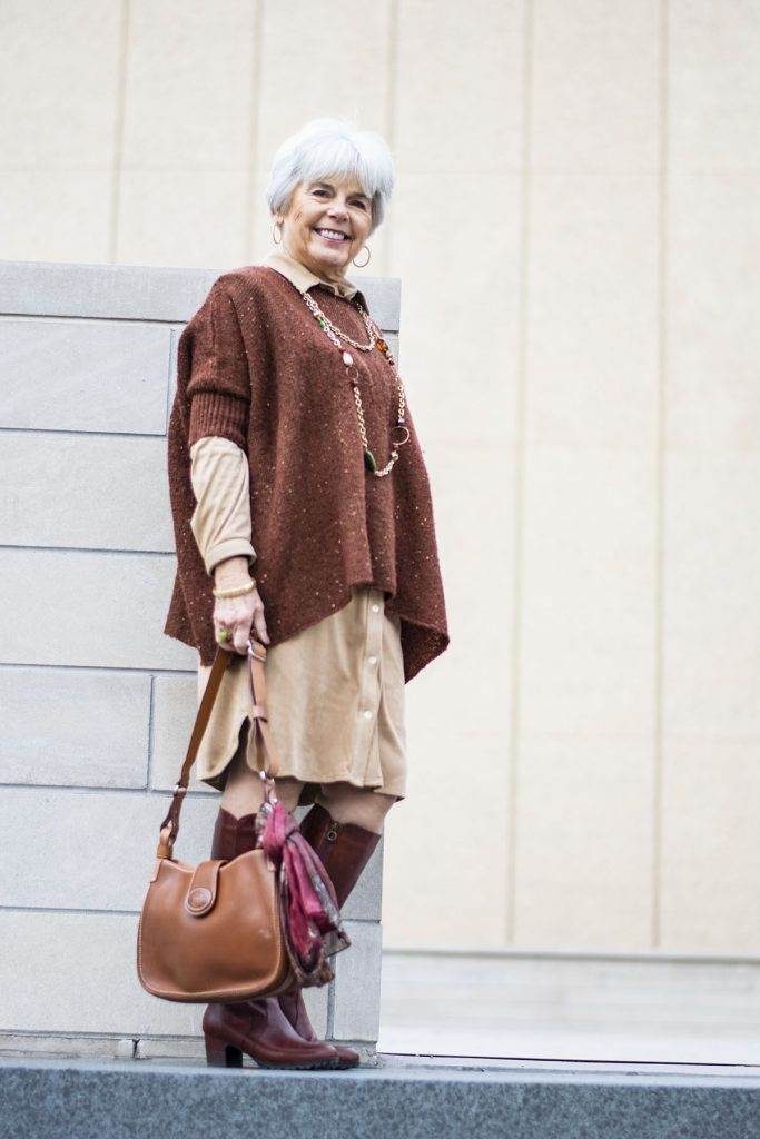 How to style comfortable boots for women wearing knee boots with a dress