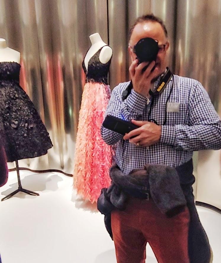 Men at the Dior Exhibition in Denver