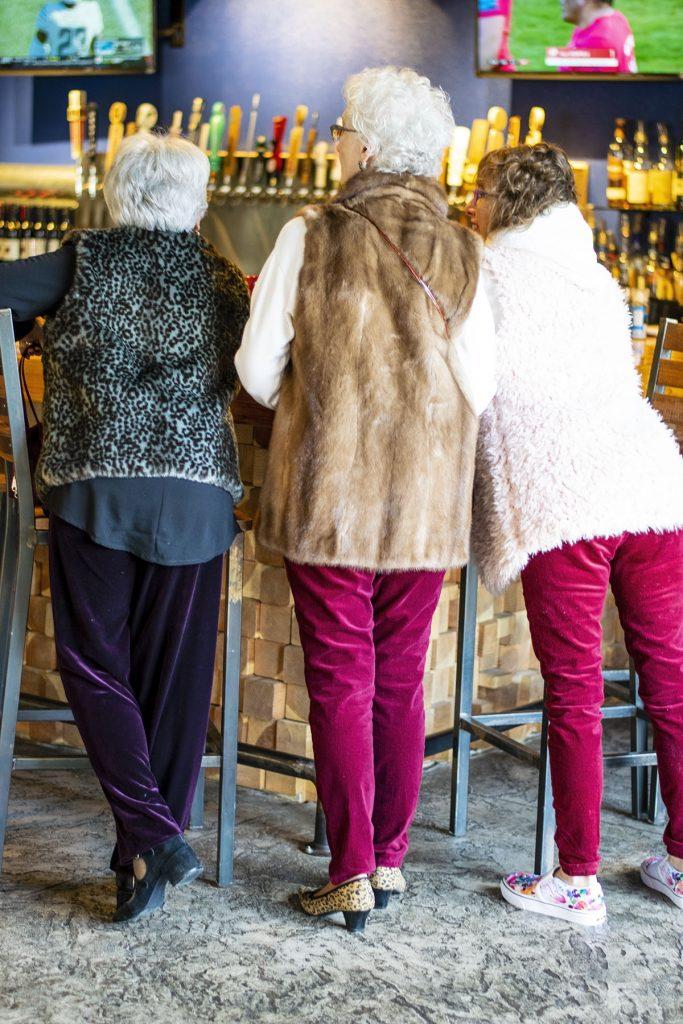 Styling burgundy velvet pants for women