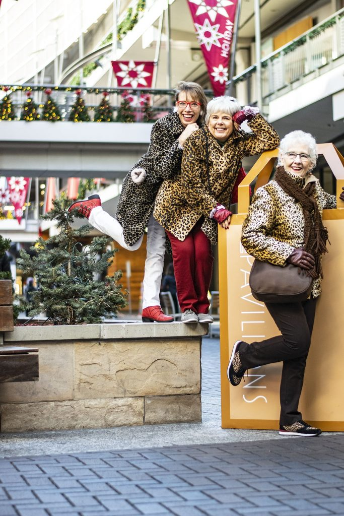 Wearing a leopard print coat for a modern stylish trend