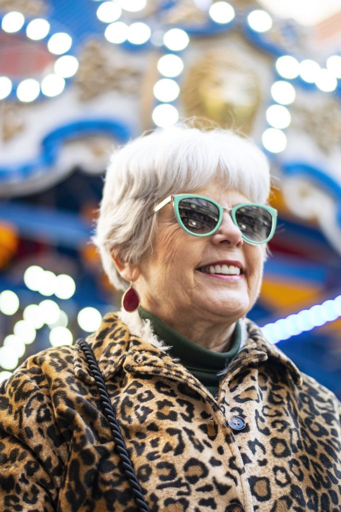 Wearing a leopard print coat for women at any age