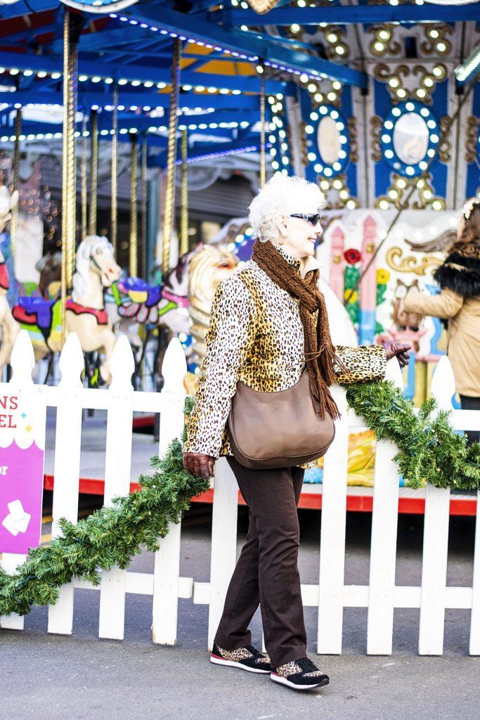 Wearing a leopard print coat for women in the winter