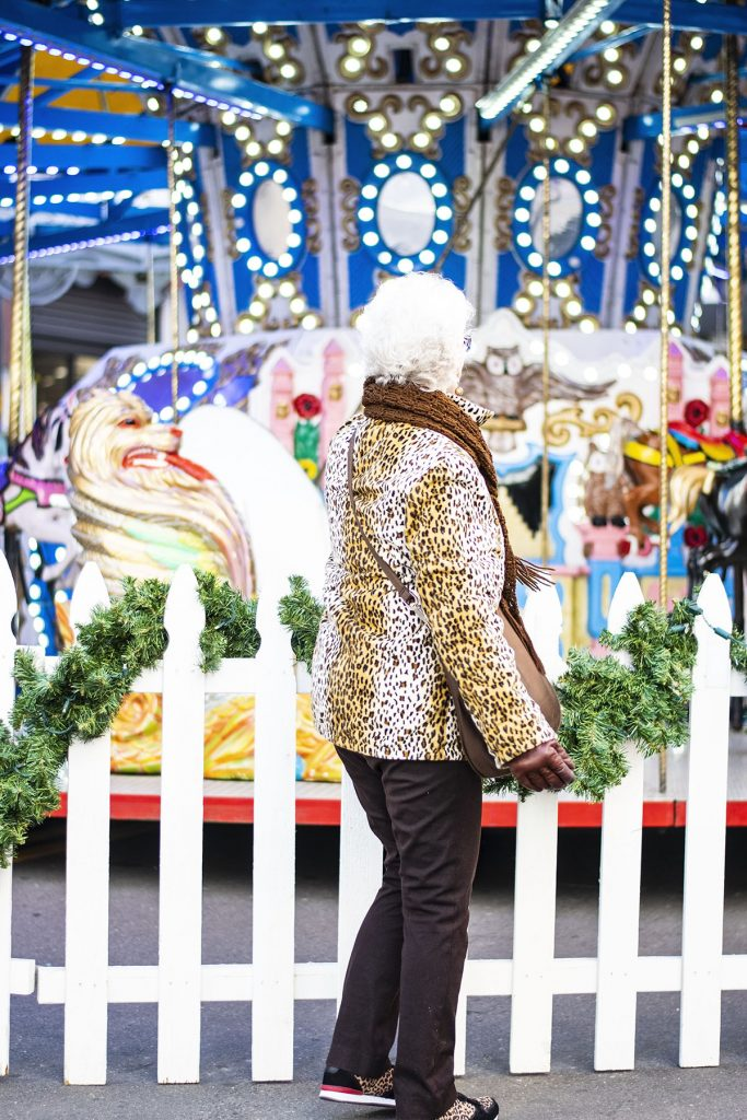 Wearing a leopard print coat for women over 80