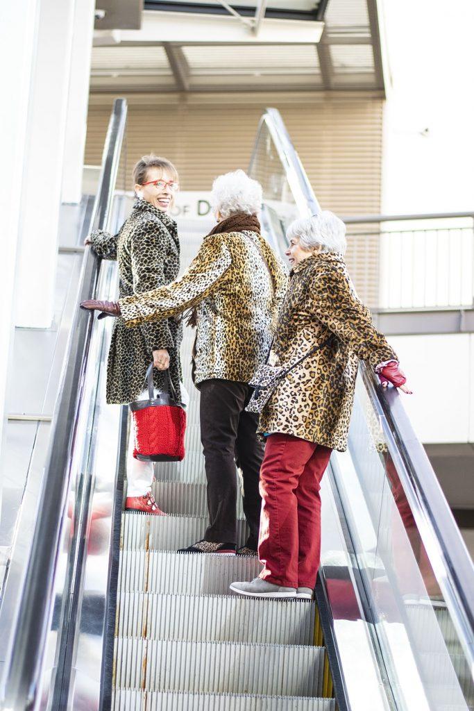 Wearing a leopard print coat for women