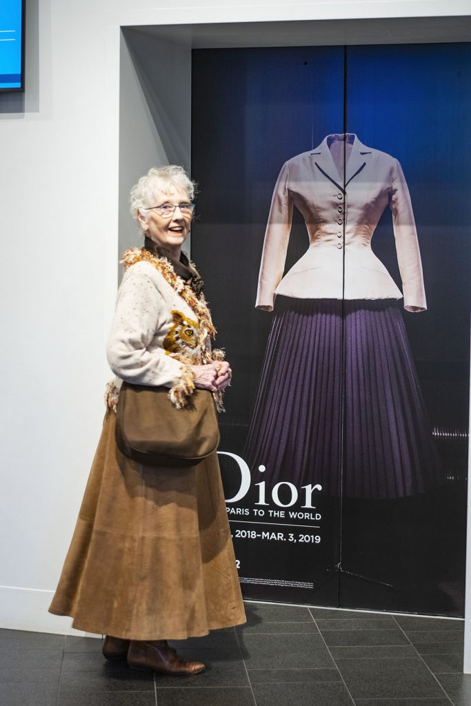 Comfortable style at the Dior exhibition