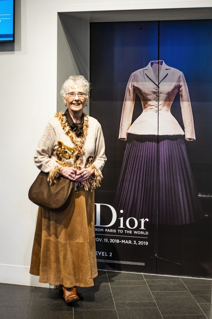 Fashion to wear for Woman over 80 style at the Dior exhibition