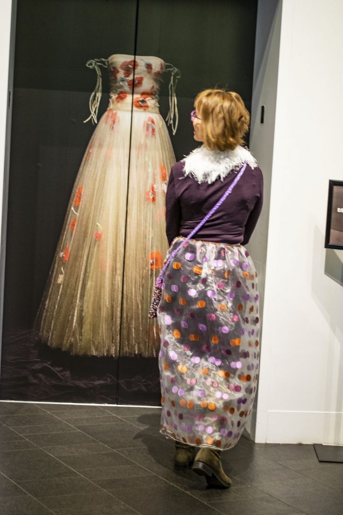 Woman over 50 style at the Dior exhibition