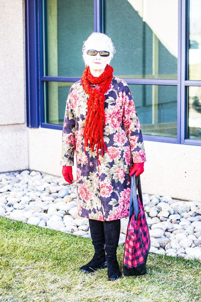 How to mix and match prints with a floral coat