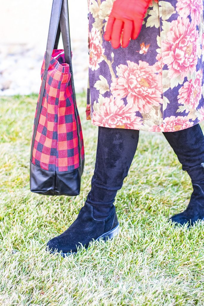 How to mix and match prints with a floral & plaid