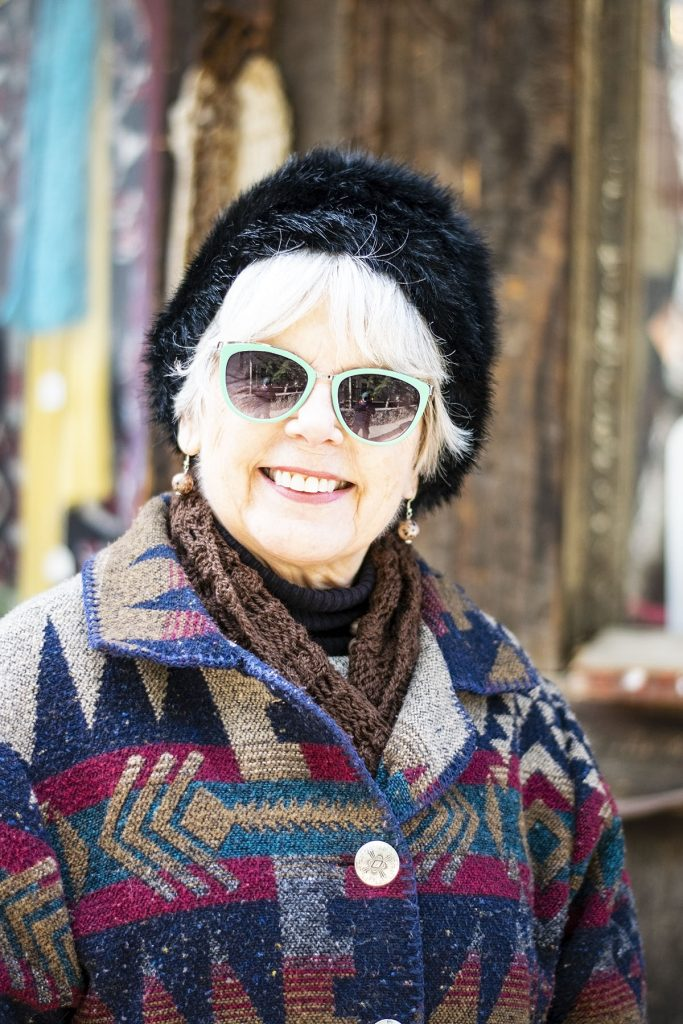 Stylish winter wool coats with furry hat