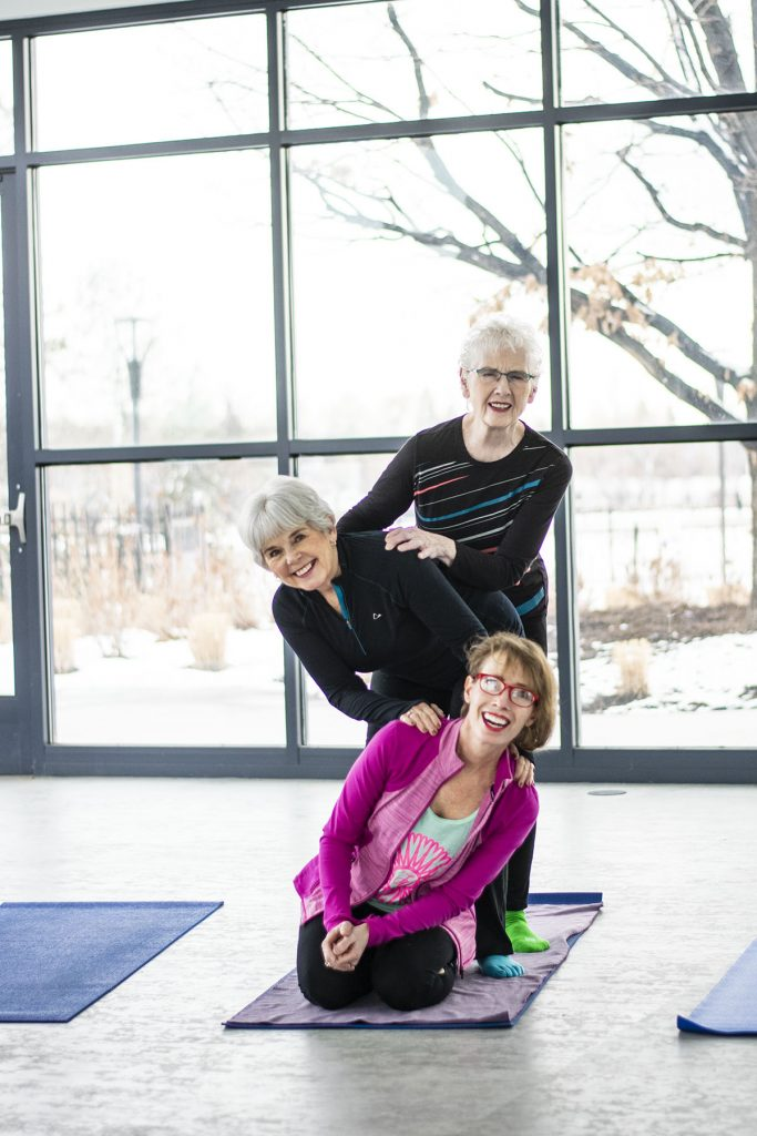 Wearing workout clothes for women over 50 helps keep moving