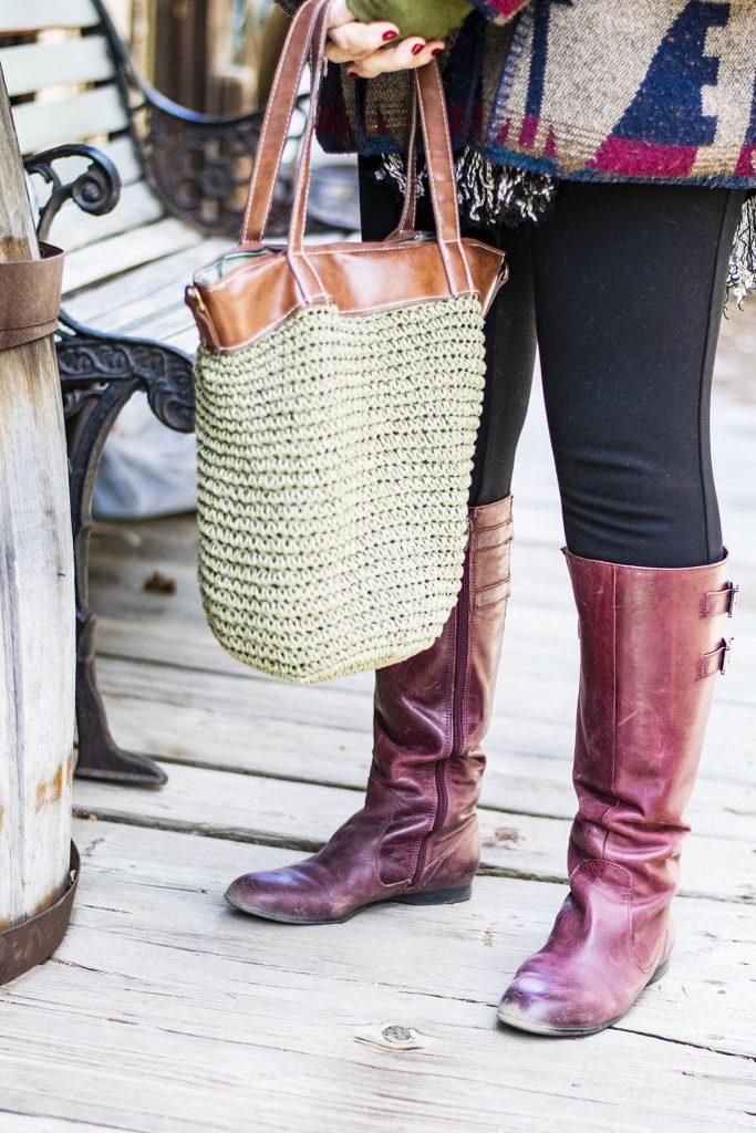 Stylish winter wool coats with fashion boots