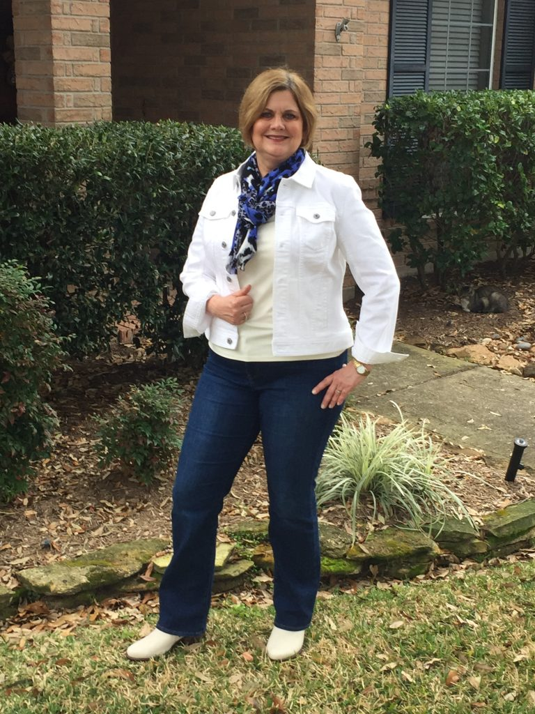 How to style white boots for women over 60
