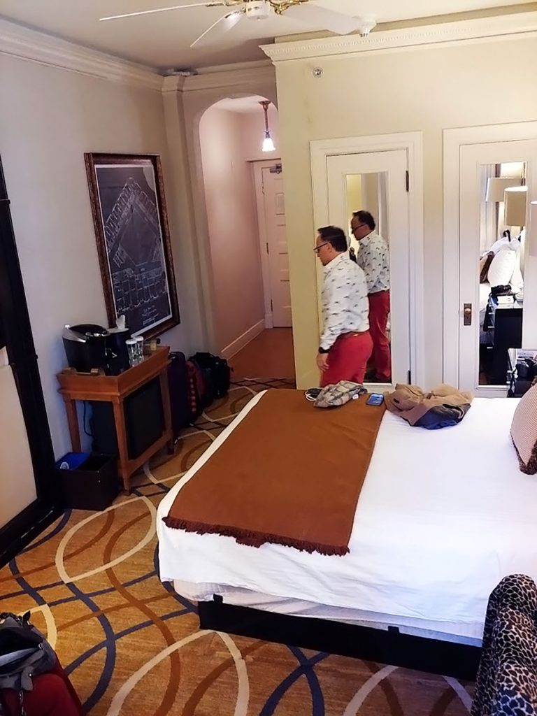 Room layout at the Brown Palace hotel in Denver Colorado