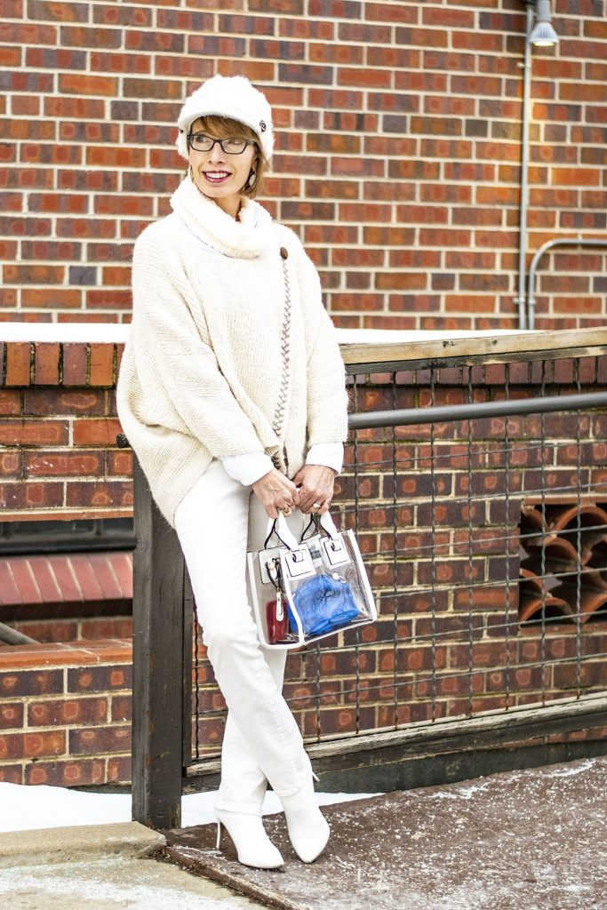 How to style white boots for ladies over fifty
