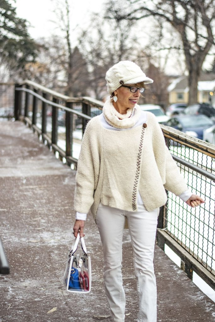 How to style white boots for women over 50