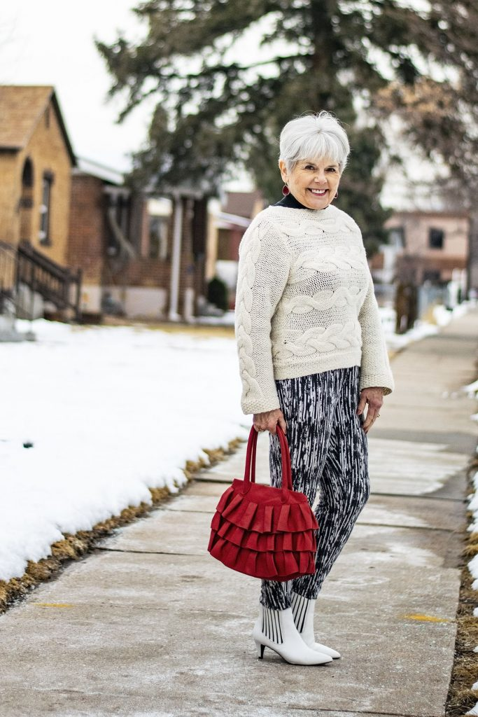 How to style white boots for women over 70