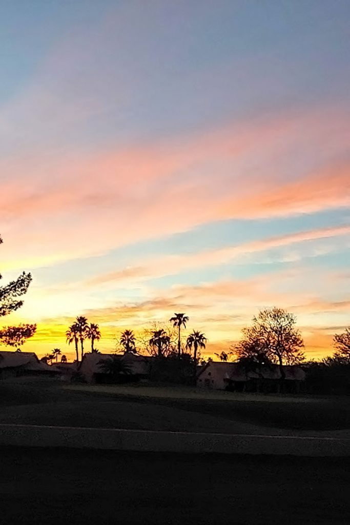 Sunset in March in Arizona
