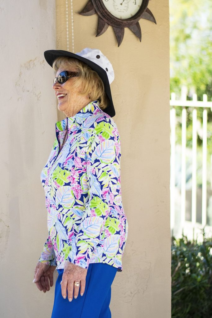 How to wear sun protection items for older women