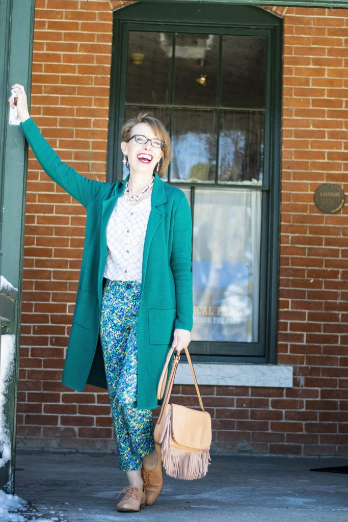How to style black and white for spring with color