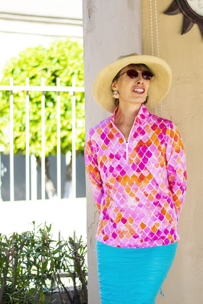 How to wear sun protection items for women over 50