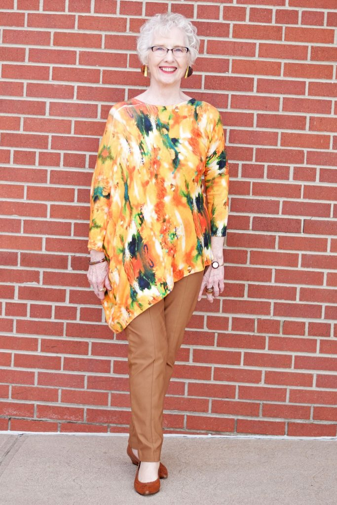 Spring colors in print tops