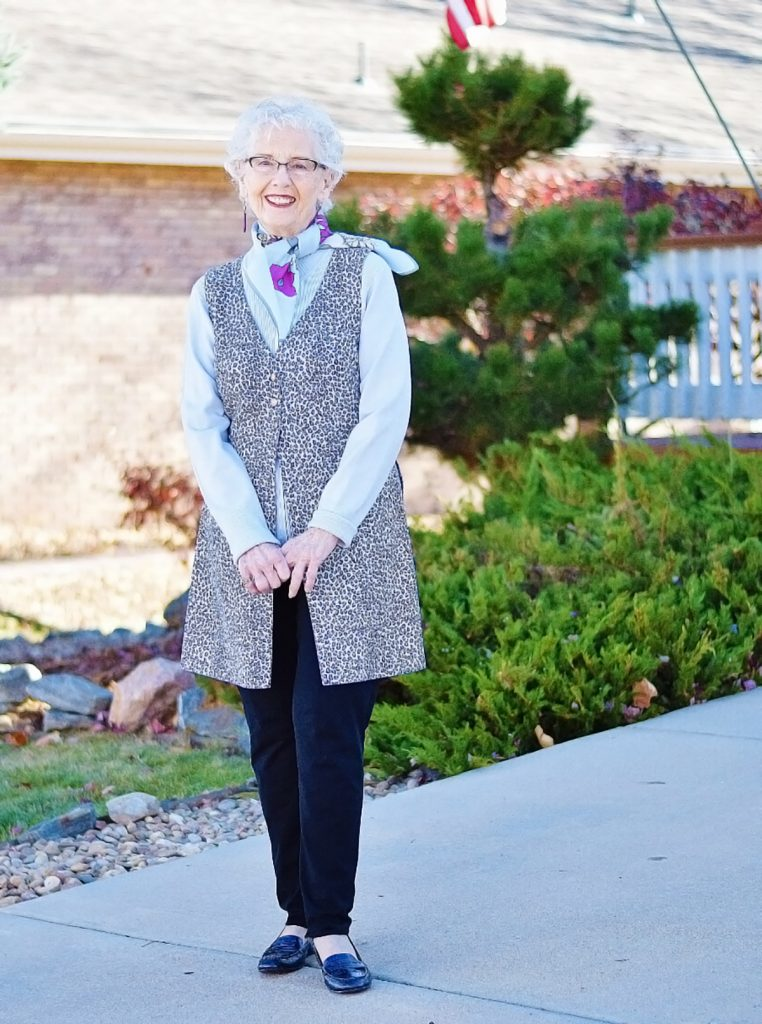 Black and White for spring for women over 80