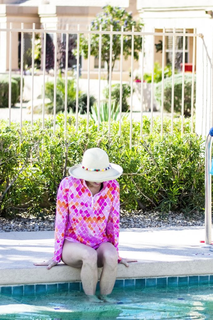 How to wear sun protection items over your swim suit