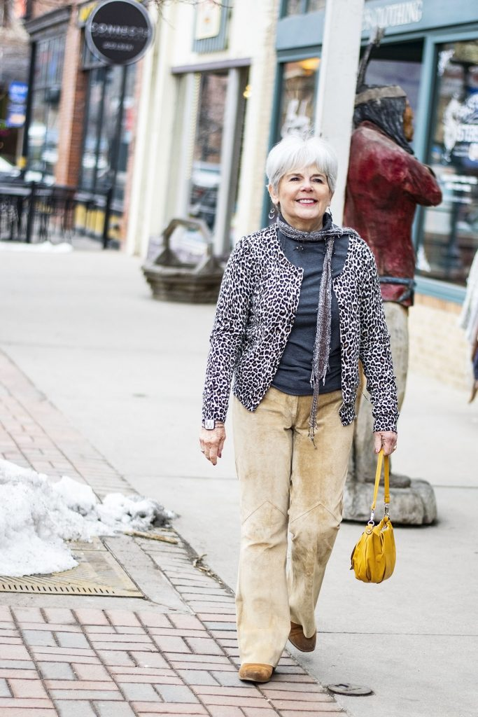 Modern cowboy style for a woman over 70