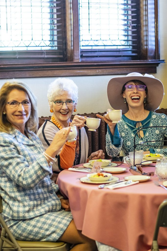 Colorado Women's history enjoying tea